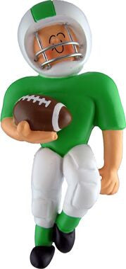 Football Player in Green Uniform