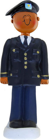 African-American Army Soldier Christmas Ornament
