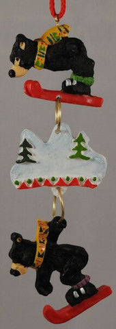 Skiing Bears Christmas Ornaments