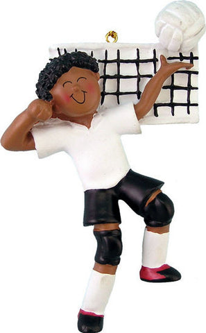 African-American Male Volleyball Player Christmas Ornamentl