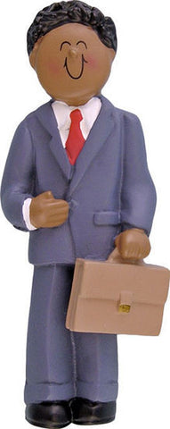 Male Businessman Christmas Ornament