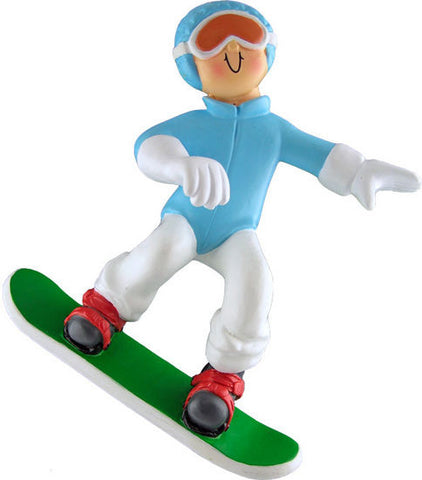 Female Snowboarder Christmas Ornament