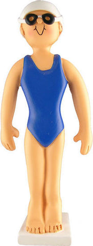 Female Swimmer Christmas Ornament