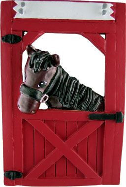 Horse in Stable Christmas Ornament