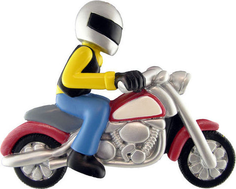 Motorcycle Rider Christmas Ornament
