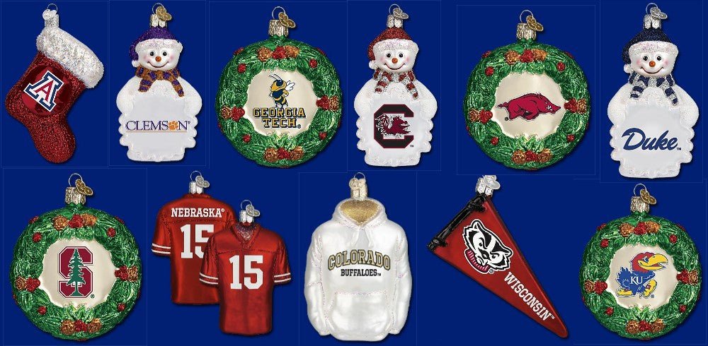 College Christmas Ornaments