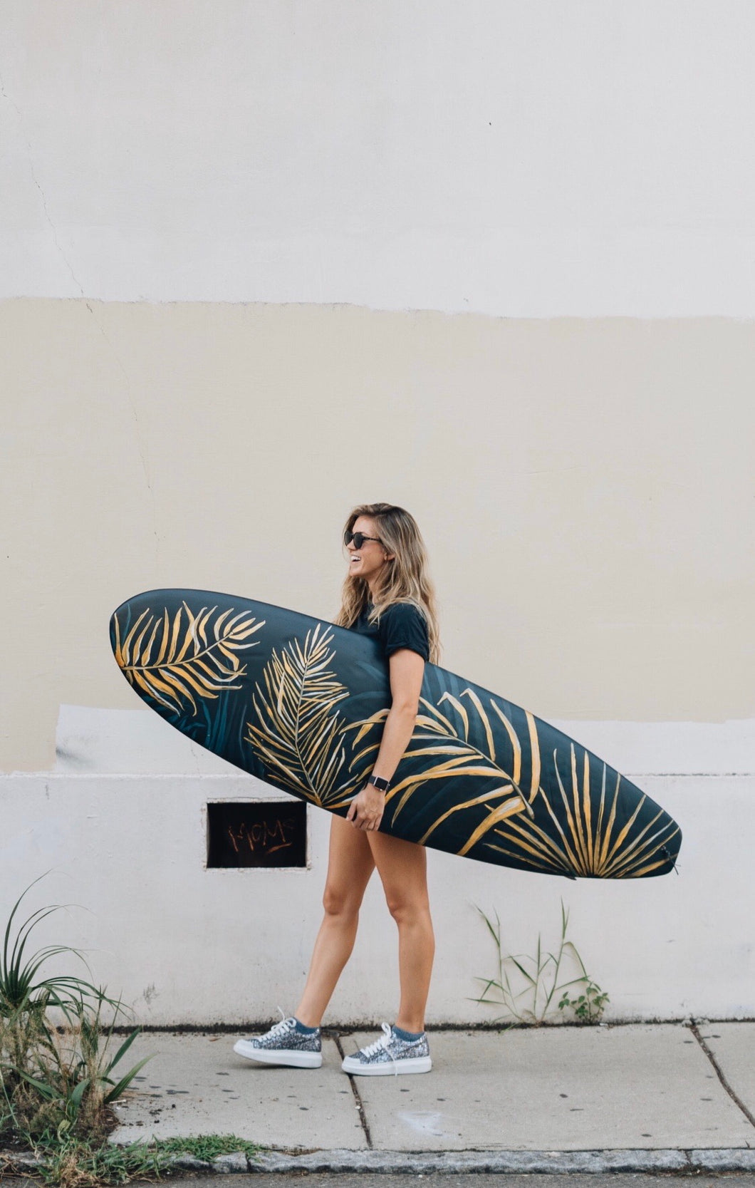 GILDED - painted surf board