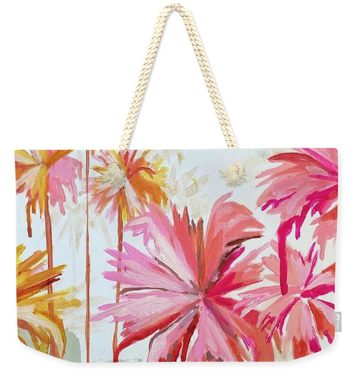 Peachy Palms - Weekender Tote Bag