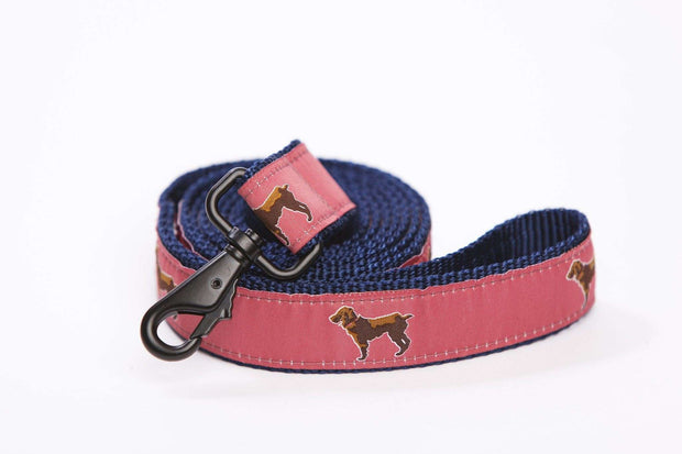 Little Brown Dog Leash - Savannah Red - Little Brown Dog Southern Trade Co