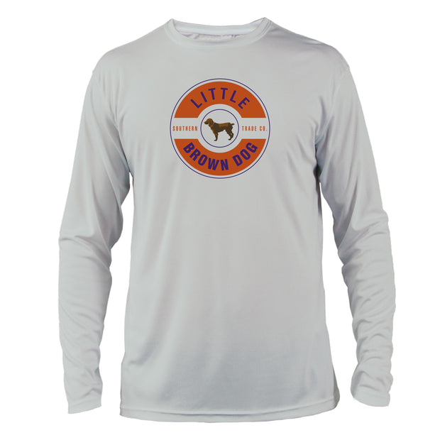 Orange + Purple Collegiate Colors Front Logo UPF 50+ Sun Protection Performance Shirt - Little Brown Dog Southern Trade Co
