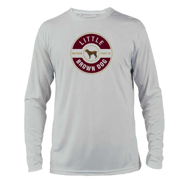 Gold + Maroon Collegiate Colors Front Logo UPF 50+ Sun Protection Performance Shirt - Little Brown Dog Southern Trade Co