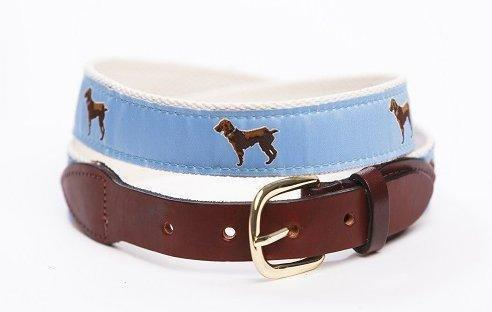 Copy of Little Brown Dog Ribbon Belt Belt Little Brown Dog Southern Trade Co. Small Light Blue