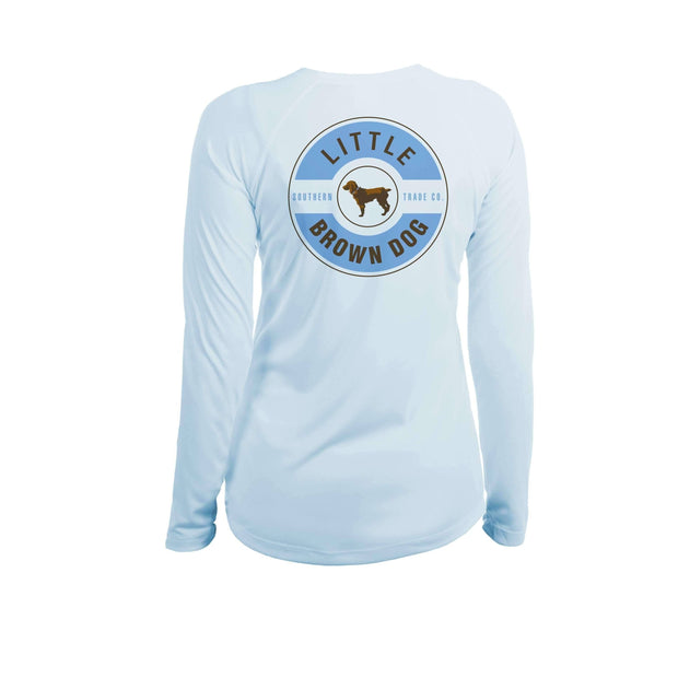 Little Brown Dog Classic Logo Women's UPF 50+ Sun Protection Long Sleeve T-Shirt T-Shirt Little Brown Dog Southern Trade Co Arctic Blue Small