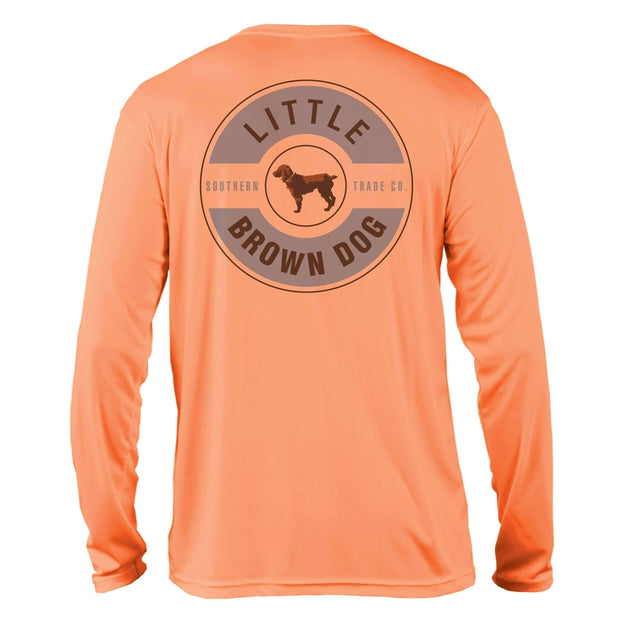 Little Brown Dog Classic Logo UPF 50+ Sun Protection Long Sleeve T-Shirt - Little Brown Dog Southern Trade Co