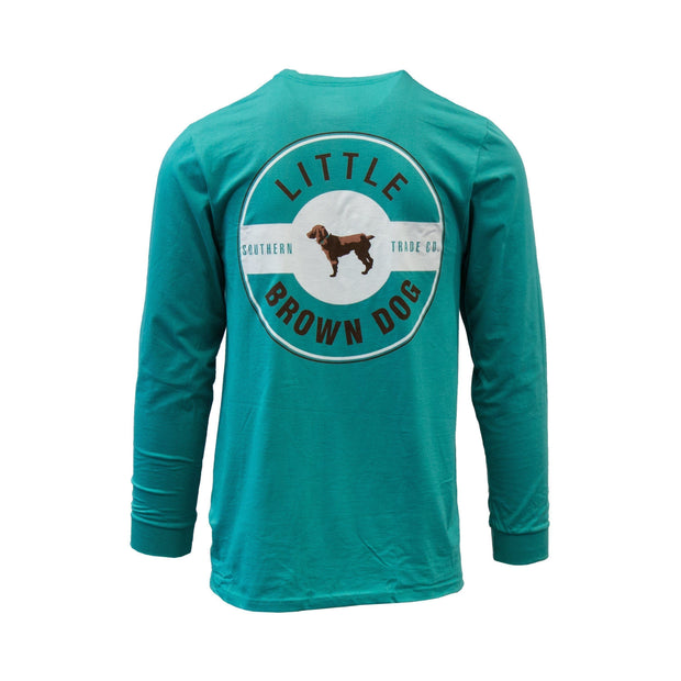 Copy of Little Brown Dog Classic Logo Long Sleeve T-Shirt T-Shirt Little Brown Dog Southern Trade Co Outerbanks Teal XXL
