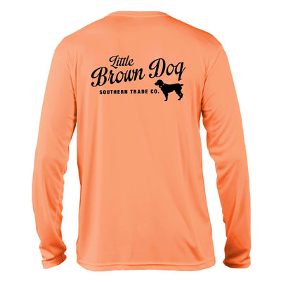 Pop Bottle UPF 50+ Sun Protection Performance Long Sleeve T-Shirt Long Sleeve T-Shirt Little Brown Dog Southern Trade Co Small Citrus
