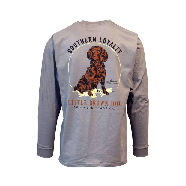 Copy of Southern Loyalty by Gordon Allen Long Sleeve T-Shirt T-Shirt Little Brown Dog Southern Trade Co Hurricane Grey S