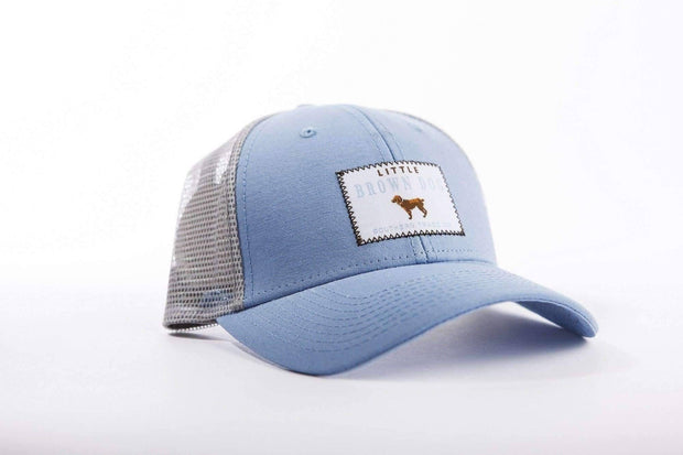 Little Brown Dog Trucker Hat - Carolina Blue - Little Brown Dog Southern Trade Co
