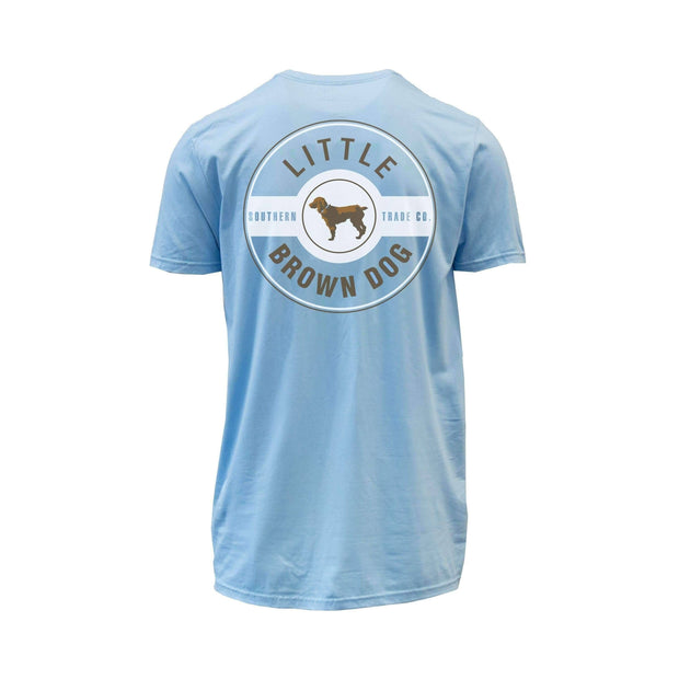Copy of Little Brown Dog Classic Logo Short Sleeve T-Shirt T-Shirt Little Brown Dog Southern Trade Co Blue Sky S