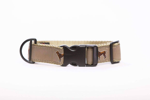Little Brown Dog Collar - Khaki - Little Brown Dog Southern Trade Co