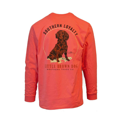 Southern Loyalty by Gordon Allen Long Sleeve T-Shirt T-Shirt Little Brown Dog Southern Trade Co