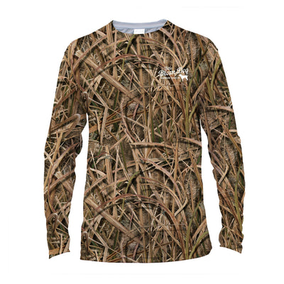 Little Brown Dog Mossy Oak Shadowgrass Blades UPF 50+ Sun Protection Long Sleeve T-Shirt - Little Brown Dog Southern Trade Co
