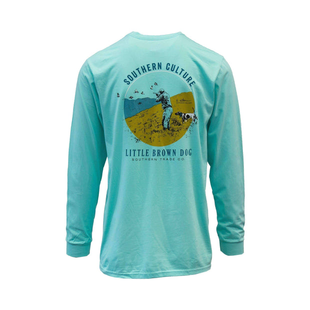 Copy of Southern Culture Hunt by Gordon Allen Long Sleeve T-Shirt T-Shirt Little Brown Dog Southern Trade Co Clearwater Blue S