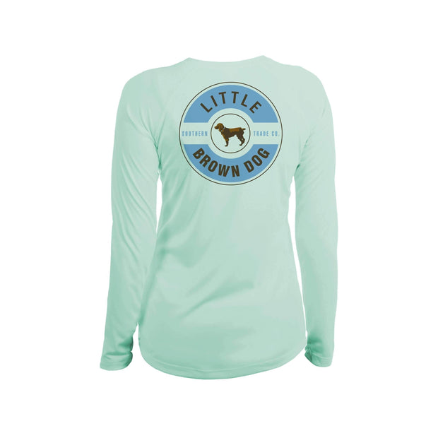 Little Brown Dog Classic Logo Women's UPF 50+ Sun Protection Long Sleeve T-Shirt T-Shirt Little Brown Dog Southern Trade Co Seagrass Small