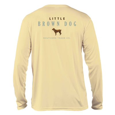 Little Brown Dog UPF 50+ Sun Protection Performance Long Sleeve T-Shirt T-Shirt Little Brown Dog Southern Trade Co Small Pale Yellow