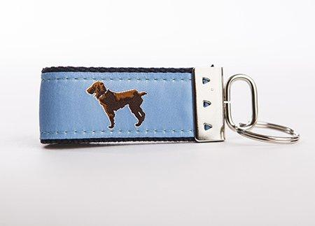 Little Brown Dog Key Fob - Light Blue - Little Brown Dog Southern Trade Co