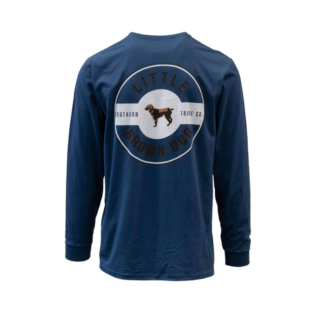 Copy of Little Brown Dog Classic Logo Long Sleeve T-Shirt T-Shirt Little Brown Dog Southern Trade Co Navy Blue S