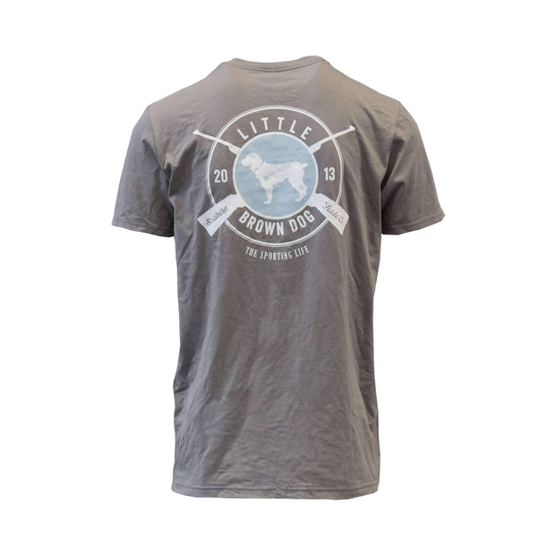 Copy of Sporting Life Short Sleeve T-Shirt T-Shirt Little Brown Dog Southern Trade Co Hurricane Grey S
