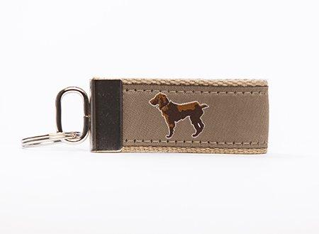 Little Brown Dog Key Fob - Khaki - Little Brown Dog Southern Trade Co
