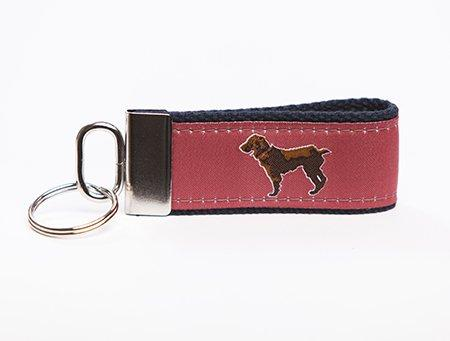 Little Brown Dog Key Fob - Savannah Red - Little Brown Dog Southern Trade Co
