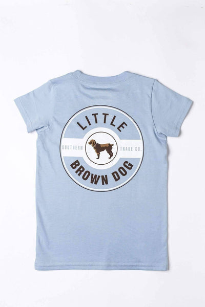 Copy of Classic Logo Kid's Short Sleeve Shirts T-Shirt Little Brown Dog Southern Trade Co Blue Sky S