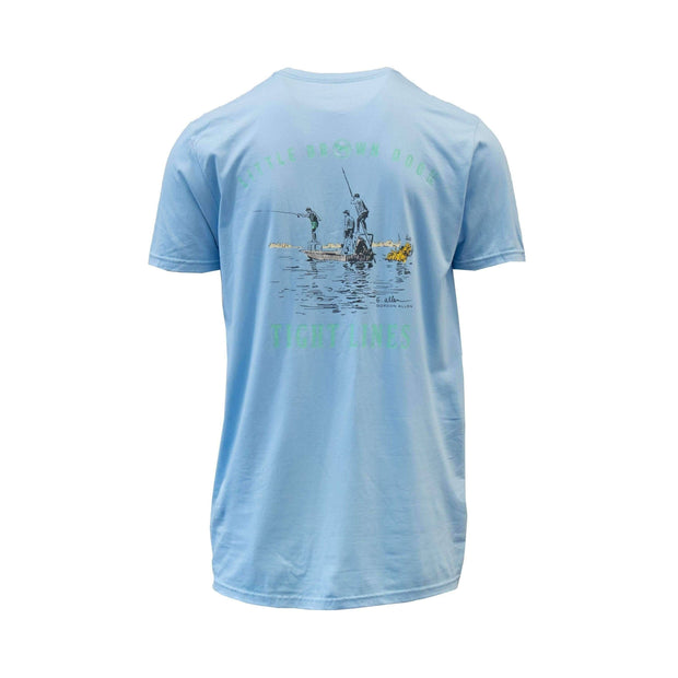 Copy of Tight Lines by Gordon Allen Short Sleeve T-Shirt T-Shirt Little Brown Dog Southern Trade Co Blue Sky S