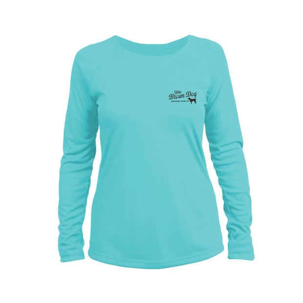 Southern Loyalty by Gordon Allen Women's UPF 50+ Sun Protection Performance Long Sleeve T-Shirt T-Shirt Little Brown Dog Southern Trade Co