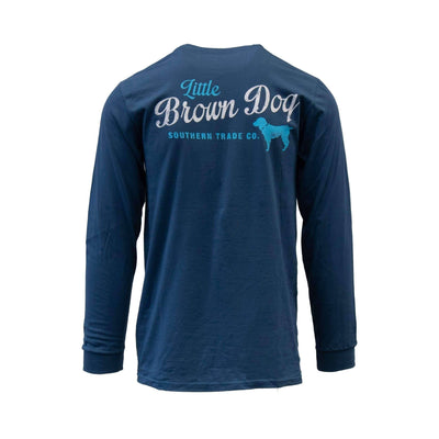 Copy of Pop Bottle Long Sleeve T-Shirt Long Sleeve T-Shirt Little Brown Dog Southern Trade Co Navy Blue S