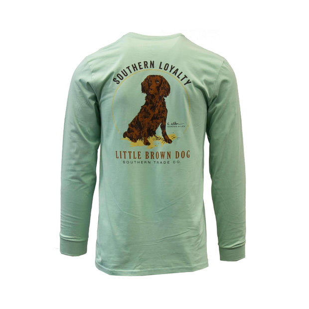 Copy of Southern Loyalty by Gordon Allen Long Sleeve T-Shirt T-Shirt Little Brown Dog Southern Trade Co Green Tea S