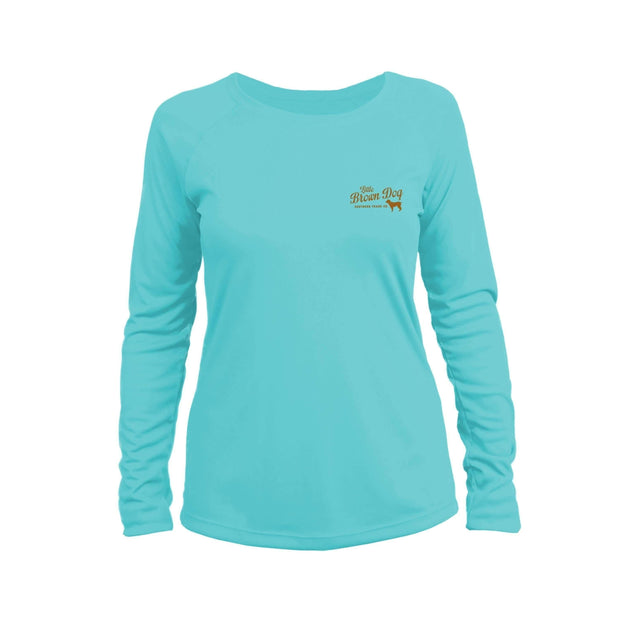 Little Brown Dog Women's UPF 50+ Sun Protection Performance Long Sleeve T-Shirt - Little Brown Dog Southern Trade Co
