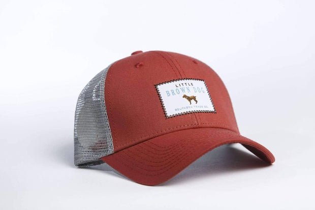 Little Brown Dog Trucker Hat - Red - Little Brown Dog Southern Trade Co
