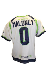 2018 John Maloney Game-Worn White Jersey