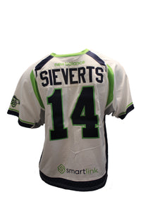 2018 Jeremy Sieverts Game-Worn White Jersey