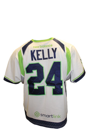 2018 Stephen Kelly Game-Worn White Jersey