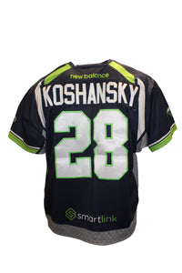 2018 Will Koshansky Game-Worn Blue Jersey