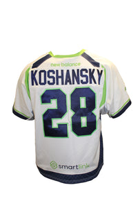 2018 Will Koshansky Game-Worn White Jersey