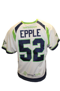 2018 Garrett Epple Game-Worn White Jersey