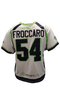 2018 Jake Frocarro Game-Worn White Jersey