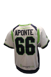 2018 Nick Aponte Game-Worn White Jersey