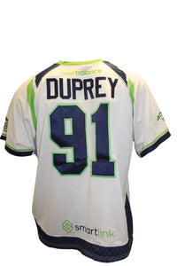 2018 Luke Duprey Game-Worn White Jersey